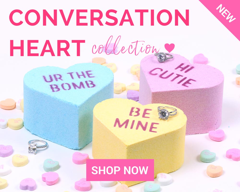 Valentines Day Conversation Heart Ring Bath Bombs