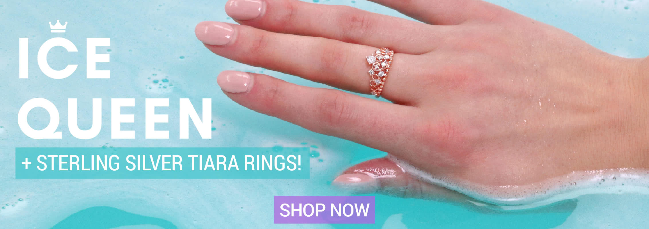 Ice Queen Sterling Silver Tiara Rings Bath Bomb